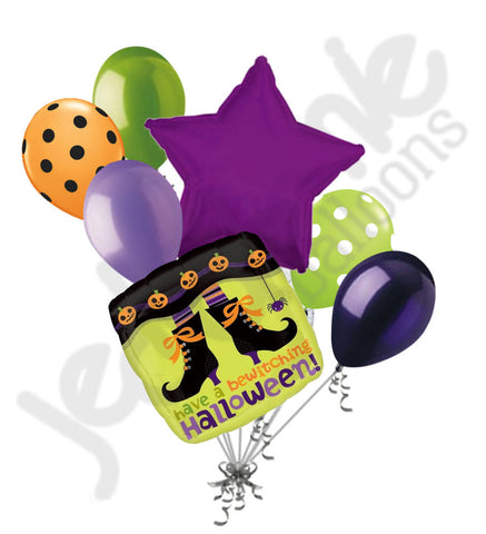 Bewitching Witch Legs Halloween Balloon Bouquet