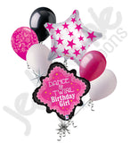 Dance Pink Lace Happy Birthday Balloon Bouquet