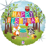 Woodland Creatures Happy Birthday Animals Balloon Bouquet