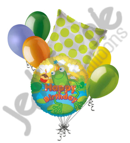 Happy Birthday Frog Balloon Bouquet