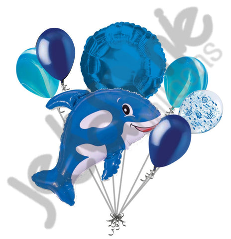 Blue Orca Killer Whale Balloon Bouquet