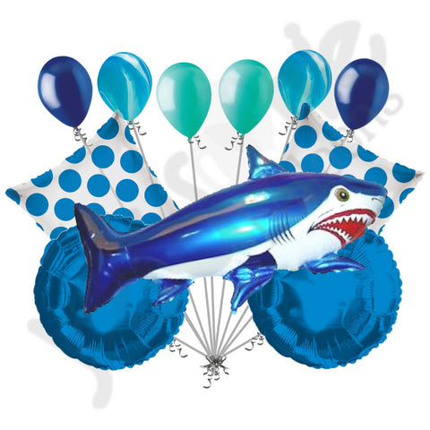 Blue Wild Tiger Shark Balloon Bouquet