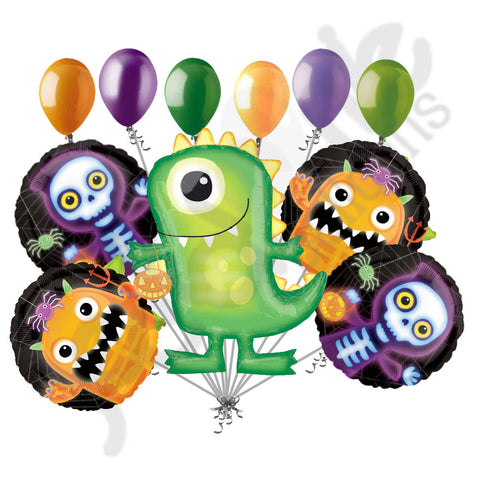 Boo Crew Green Monster Balloon Bouquet