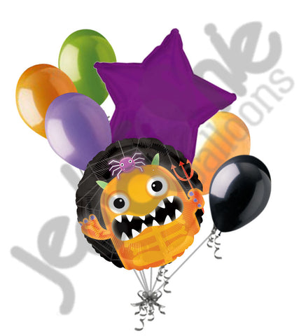Boo Crew Orange Monster Halloween Balloon Bouquet