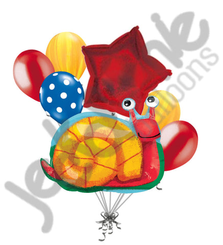 Busy Red Snail Balloon Bouquet