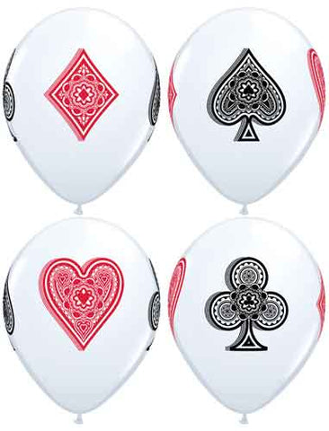 Cards Suits Print Latex Balloons
