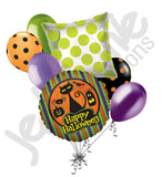 Black Cat & Pumpkins Halloween Balloon Bouquet