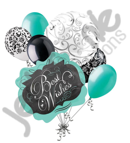 Best Wishes Chalk Board Marquee Balloon Bouquet