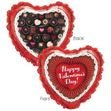 Box of Chocolates Heart Happy Valentines Day Balloon Bouquet