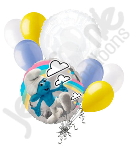 Clumsy Smurf Round Balloon Bouquet