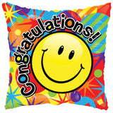 Colorful Smiley Congratulations Balloon Bouquet