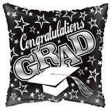 Black Congratulations Grad Square Balloon