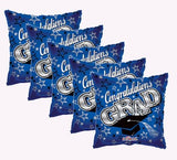 Blue Congratulations Grad Square Balloon