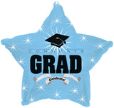 Light Blue Congrats Grad Celebrate Balloon Bouquet