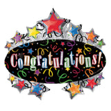 Congratulations Colorful Marquee Balloon Bouquet