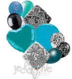 *~MANY COLORS~* Mehndi Damask & Colors Balloon Bouquet