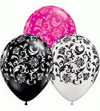 Elegant Damask Latex Balloons