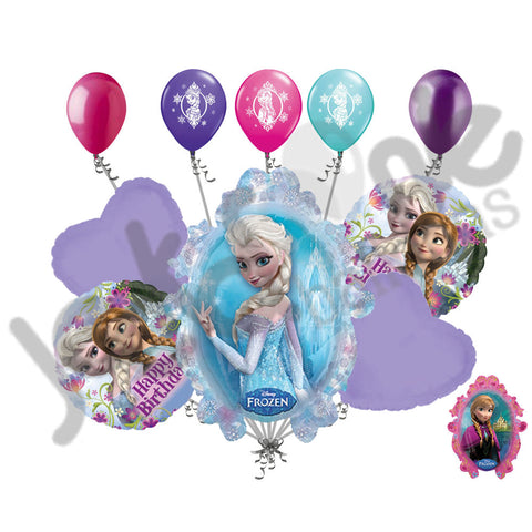 Disney Frozen Princess Happy Birthday Balloon Bouquet Jeckaroonie