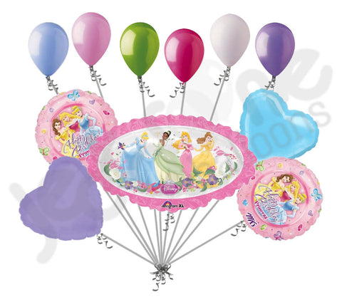 Disney Princess Marquee Happy Birthday Balloon Bouquet Jeckaroonie