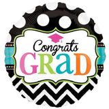 Dream Big Congrats Grad Chevron & Dots Balloon Bouquet