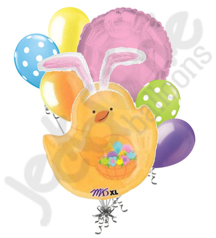 Chick with Bunny Ears Happy Easter Balloon Bouquet