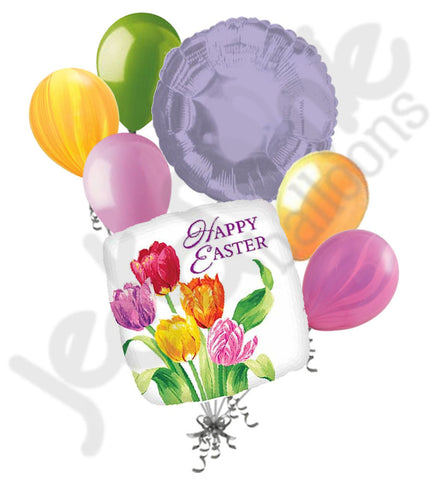 Happy Easter Tulips Balloon Bouquet