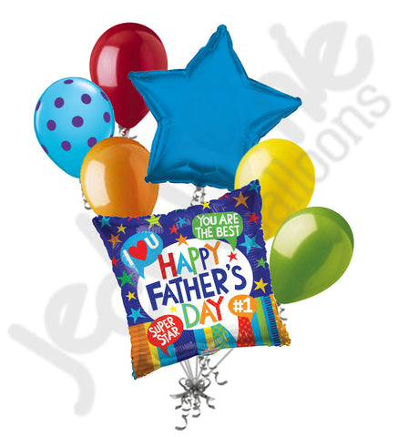 Best Dad Accolades Happy Father's Day Balloon Bouquet