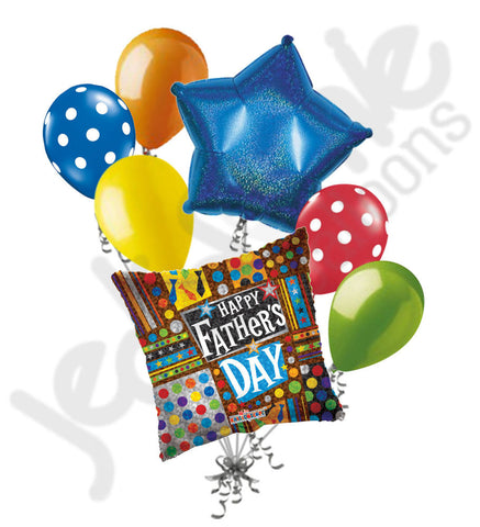 Festive Sparkles Father's Day Balloon Bouquet