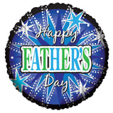 Blue & Silver Sparkles Happy Father's Day Balloon Bouquet