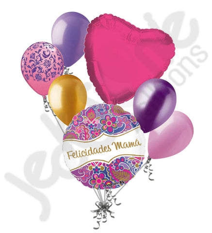 Felicidades Mama Paisley Mother's Day Balloon Bouquet