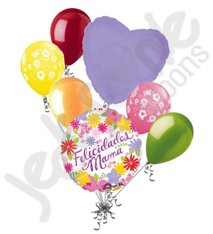 Felicidades Mama Flowers Mother's Day Balloon Bouquet