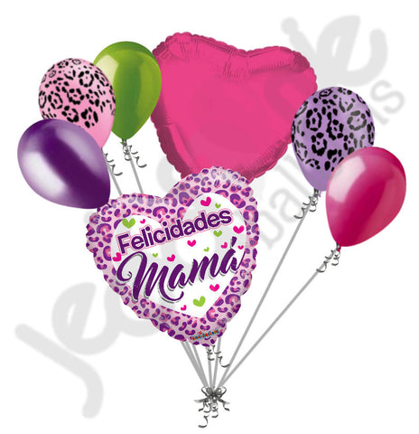 Felicidades Mamá Leopard Happy Mother's Day Balloon Bouquet