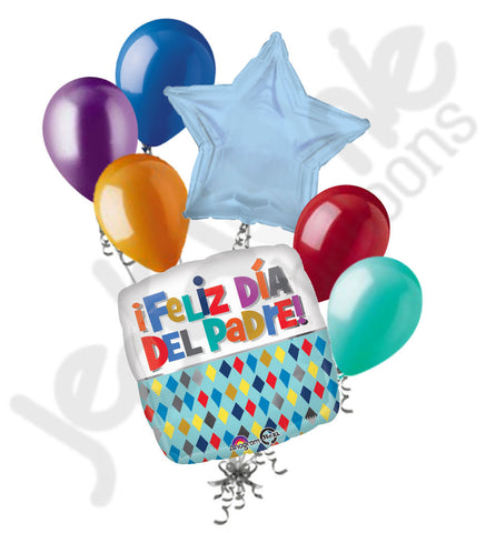 Feliz Dia Del Padre Happy Father's Day Balloon Bouquet