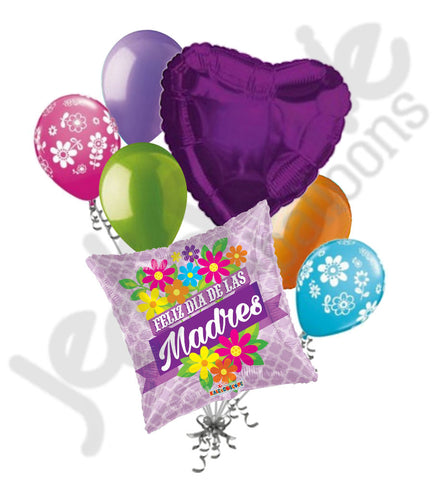 Feliz Dia de las Madres Flowers Happy Mother's Day Balloon Bouquet