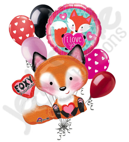 Foxy Valentine Love Fox Balloon Bouquet