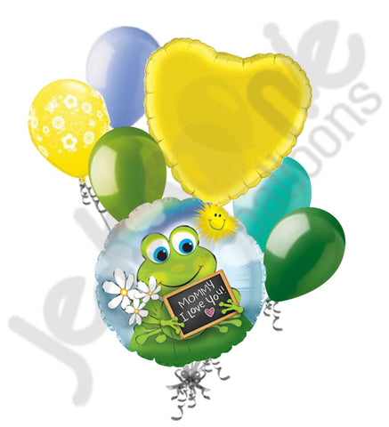 Frog Mommy I Love You Happy Mother's Day Balloon Bouquet