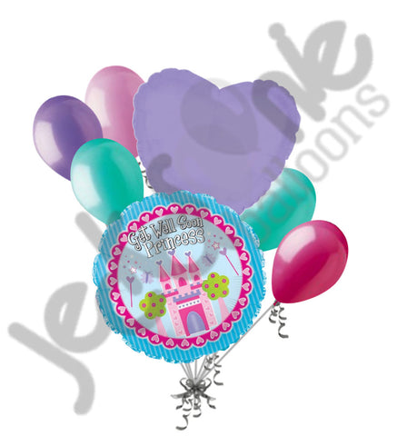 Get Well Soon Princess Castle Balloon Bouquet