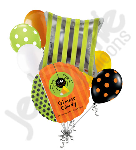 Gimme Candy Spider Tricks or Treats Halloween Balloon Bouquet