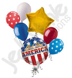God Bless America Patriotic Balloon Bouquet