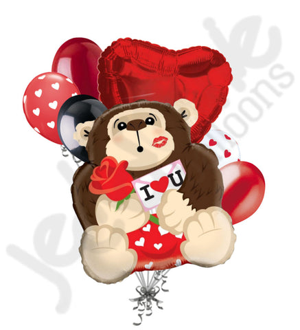 Gorilla in Love Balloon Bouquet