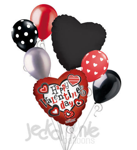Modern Hearts Happy Valentine's Day Balloon Bouquet
