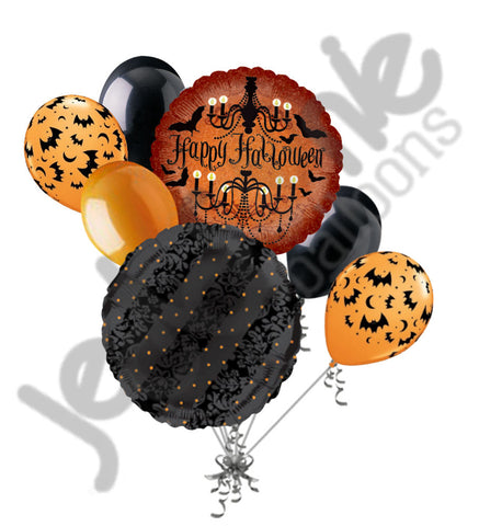 Halloween Haunted Bats Balloon Bouquet
