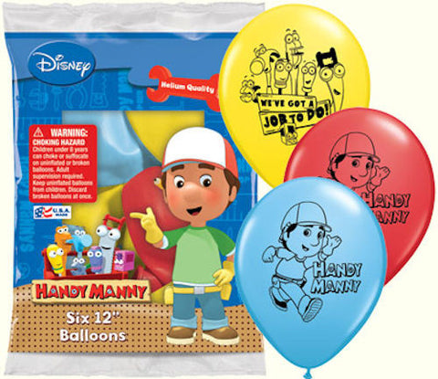 Disney Handy Manny Latex Balloons