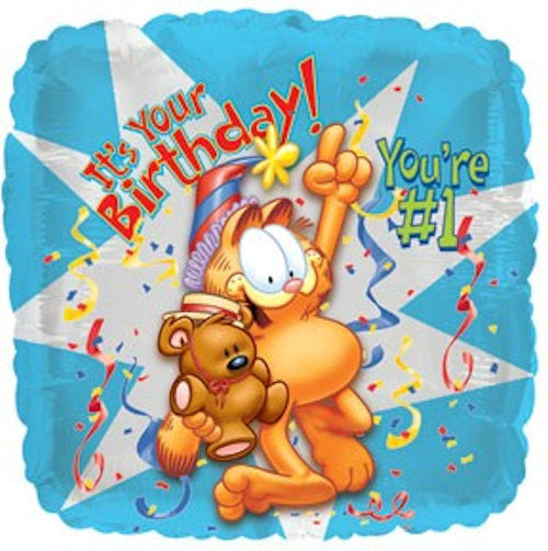 Garfield Happy Birthday 1 Balloon Bouquet Jeckaroonie Balloons
