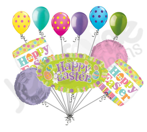 Happy Easter Marquee Bunnies & Eggs Balloon Bouquet