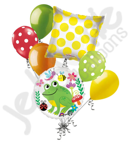 Happy Green Frog & Friends Balloon Bouquet