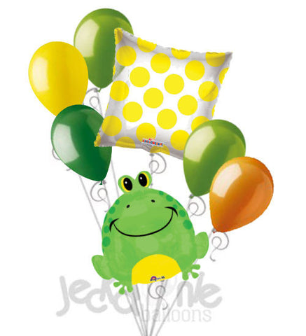 Happy Green Frog Balloon Bouquet