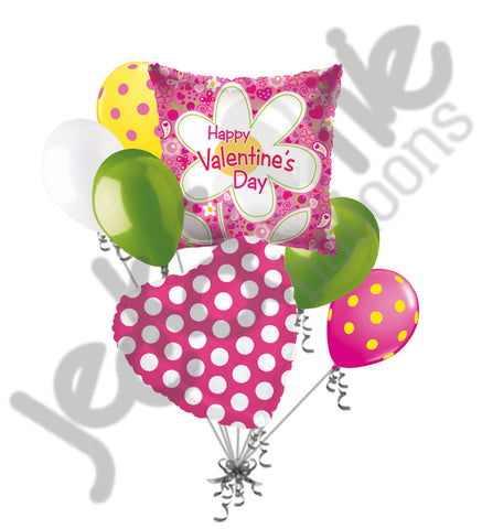 Daisy Flower Happy Valentines Day Square Balloon Bouquet ...