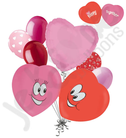 Candy Hearts So Happy Together Balloon Bouquet