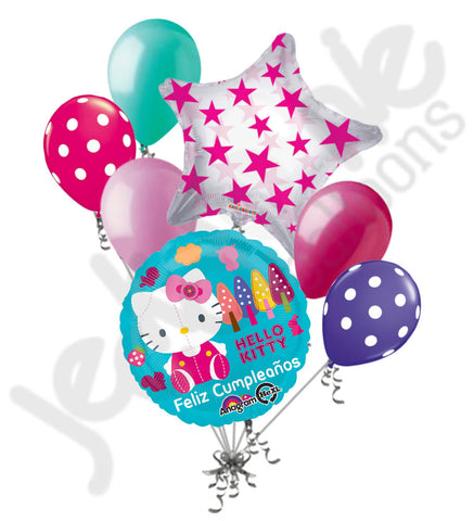 Hello Kitty Feliz Cumpleanos Balloon Bouquet